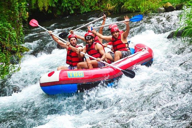 Fun Activities Telaga Waja White Water Rafting with 2 Hour Balinese Massage