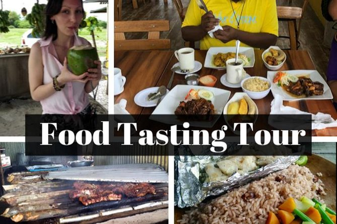 Tour de degustação de comida da culinária jamaicana local