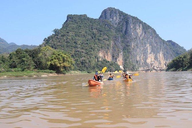 Fullday Kayaking To Pak Ou Caves, Traditional Villages & Kuang Si Waterfall