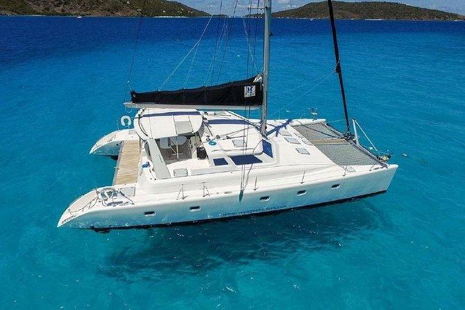 50' Luxury Catamaran Private Snorkel, Sail and Beach Tour