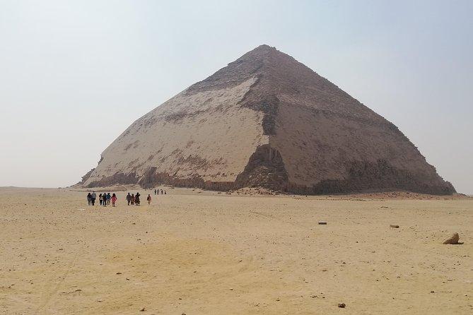 Day tour to Giza pyramids & Dahshour&Memphis and sakkara pyramids with lunch