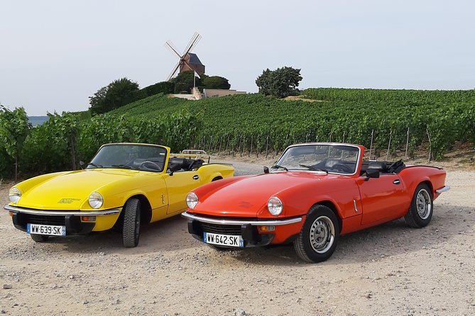 rental of triumph spitfire 1500 circuit on the road to champagne