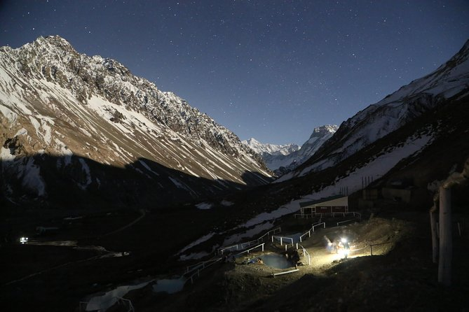 Night Tour Open Sky in Volcano Hot Springs at Cajon del Maipo