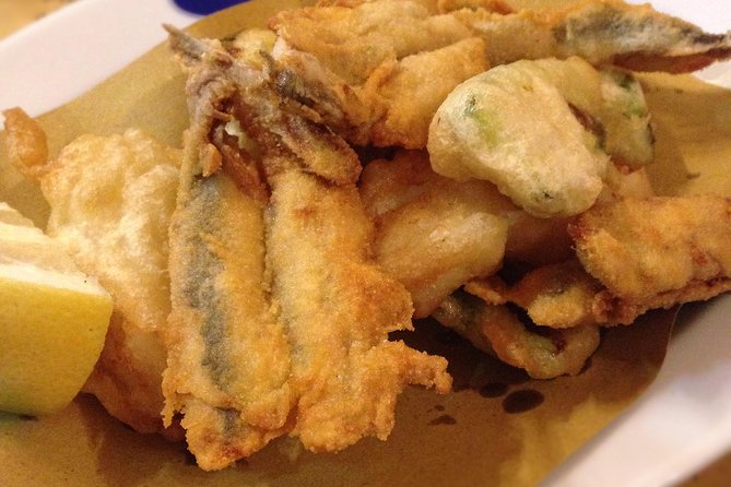Fried local fish