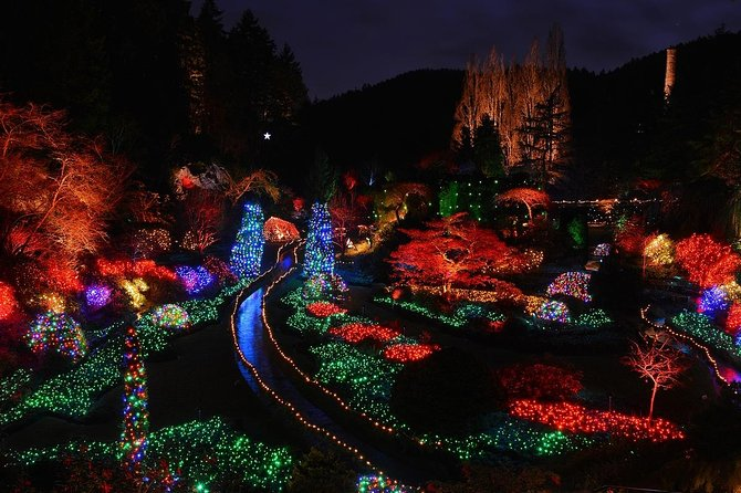 Victoria and Butchart Gardens Christmas Lights Tour from Vancouver
