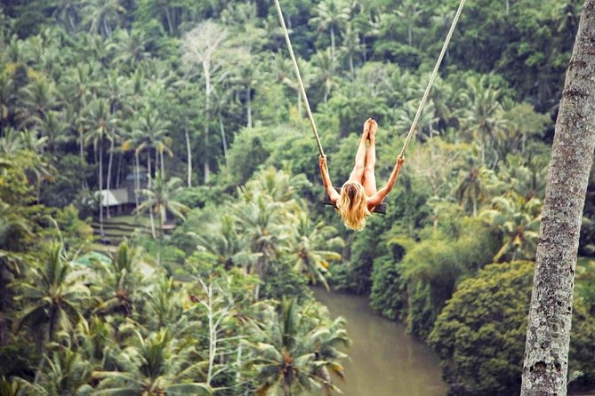 Jungle Swing Ubud Tour with Tegenungan Waterfall