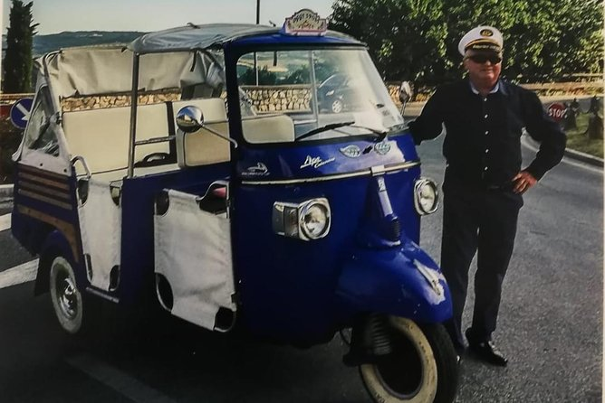 Todi exciting and vintage Ape tuk tuk private tour!