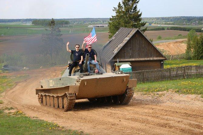 Soviet tank riding and Kalashnikov shooting MINI group: max 3 people