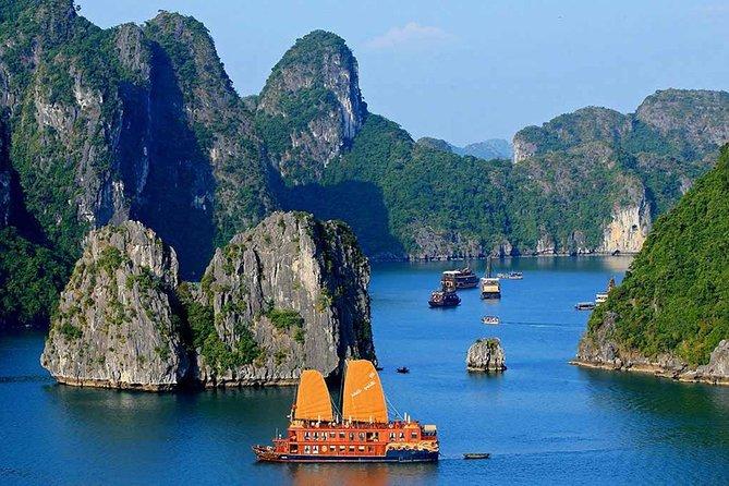 Halong Bay tour 2 days / 1 night on Stellar cruise {New 4 star Cruise}.