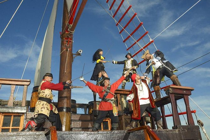 Family Fun in the Sun on a real Wooden Pirate Ship