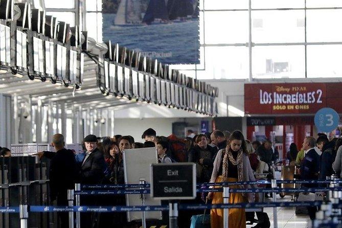 Transfer de partida privado do aeroporto de Santiago