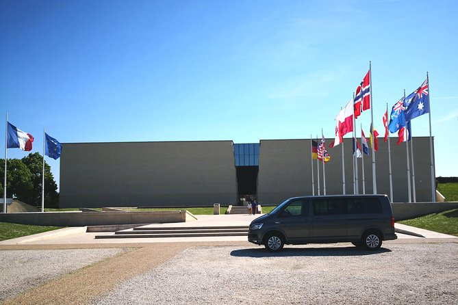 Private trip from Paris to visit the Caen Memorial Museum aboard a Van (3/6 pax)