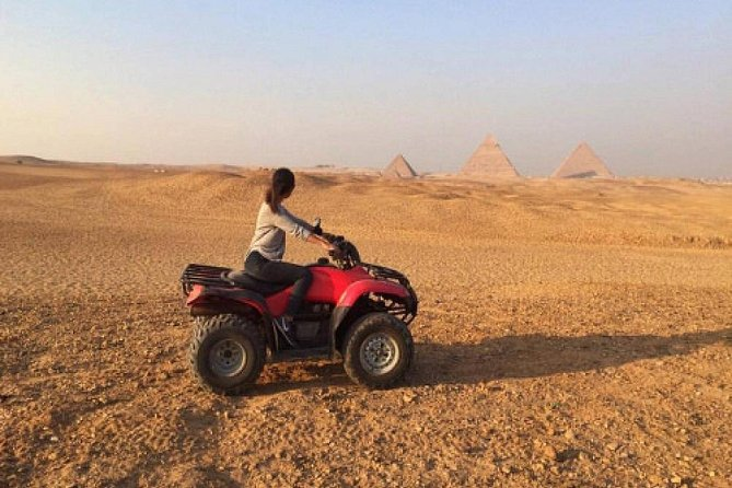 Half Day Tour: Giza Pyramids with 90 Minute Quad Bike Included from Cairo