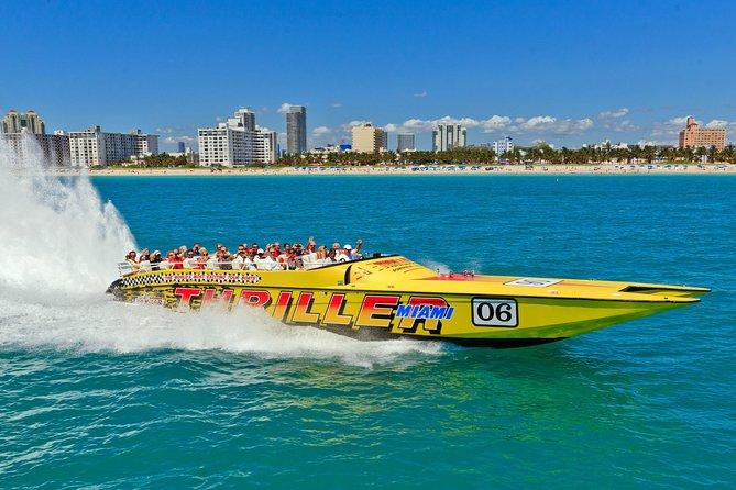 Faça o Passeio de Lancha Thriller e Miami ao Máximo! City Tour (Combo)