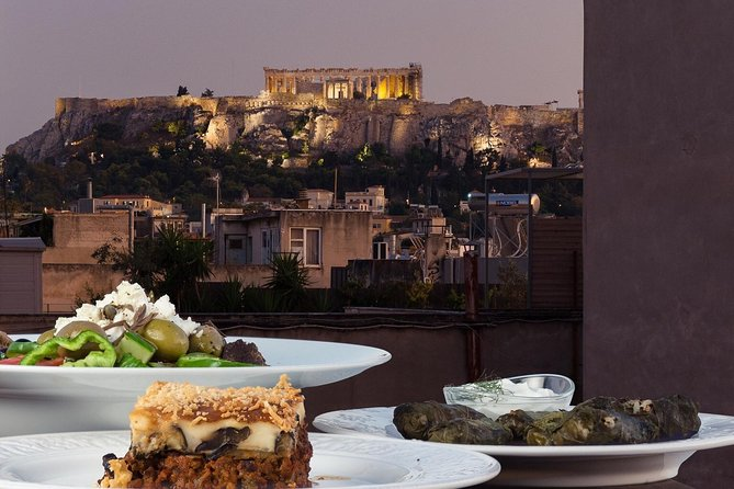 Traditional Greek cooking class and dinner with an Acropolis view
