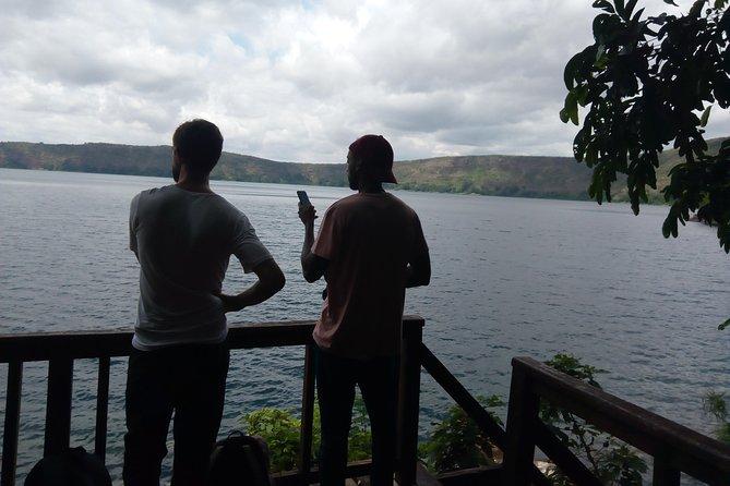 Beautiful view of the caldera lake, Lake Chala.
