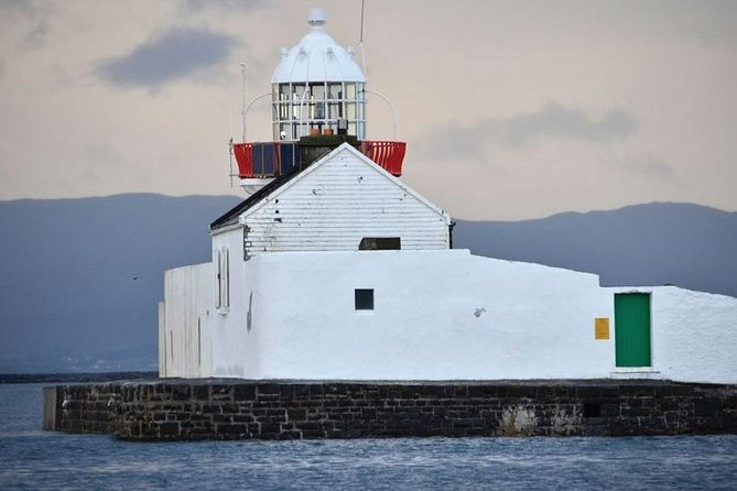 Inishgort Lighthouse from our ship.
