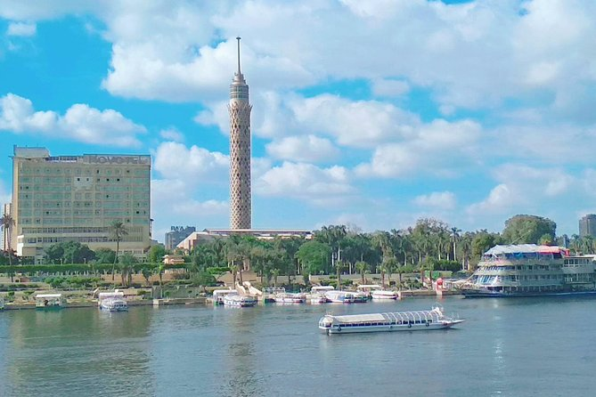 Private Guided 8 Hour Tour to Giza Pyramids Cairo Tower and Egyptian Museum