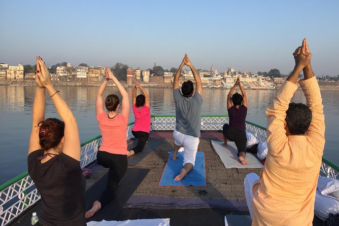 Morning tour with Boat ride, Ganga aarti, classical dance and Yoga session