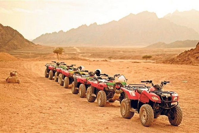 Hurghada, Red Sea sunset desert safari trip by quad bike