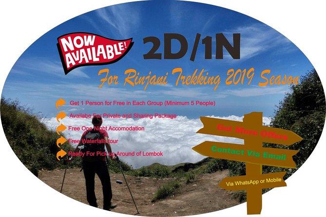 Rinjani Trekking 2D/1N Senaru Route Sharing Package