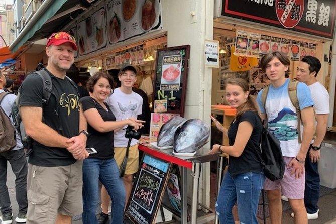 Recorrido gastronómico del mercado de pescado de Tsukiji con guía con licencia nacional
