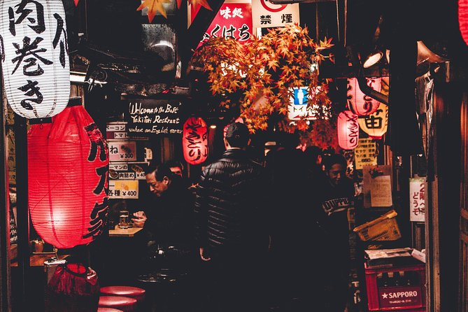 Bar-hopping in Golden Gai district of Shinjuku, Tokyo