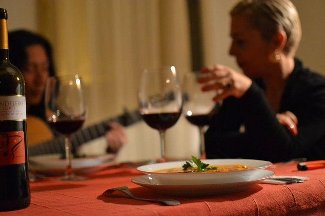 Intimate Dinner Party with Flamenco Guitar in Seville