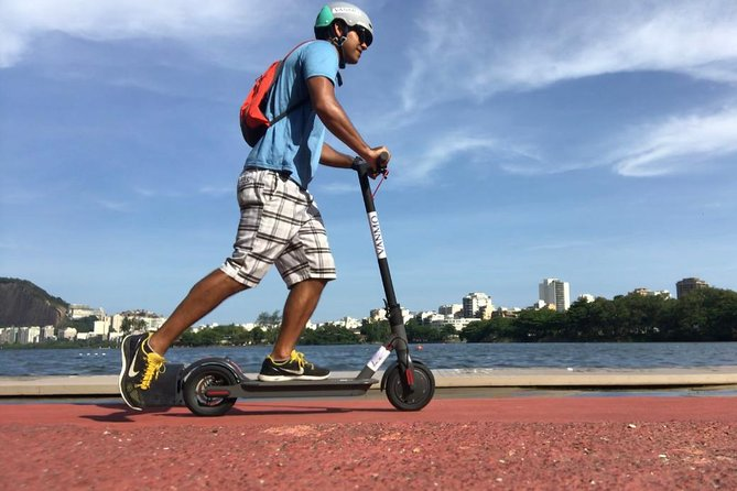 Lagoon and Park Lage with Electric Scooter