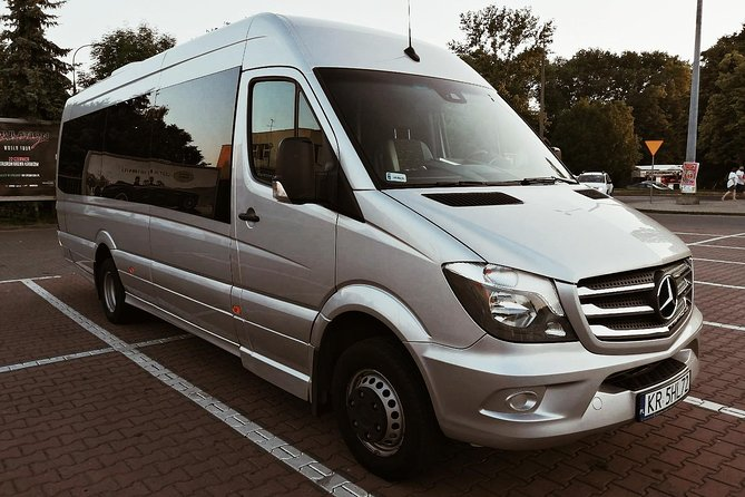 Krakow Airport  Krakow City transfer by 22 seater Mercedes-Benz minibus photo 1