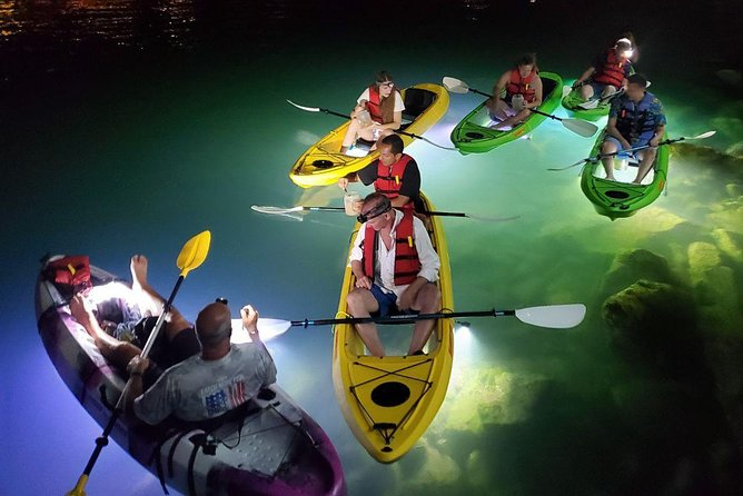 St. Pete Beach LED Illuminated Night Tours on Glass Bottom Kayak