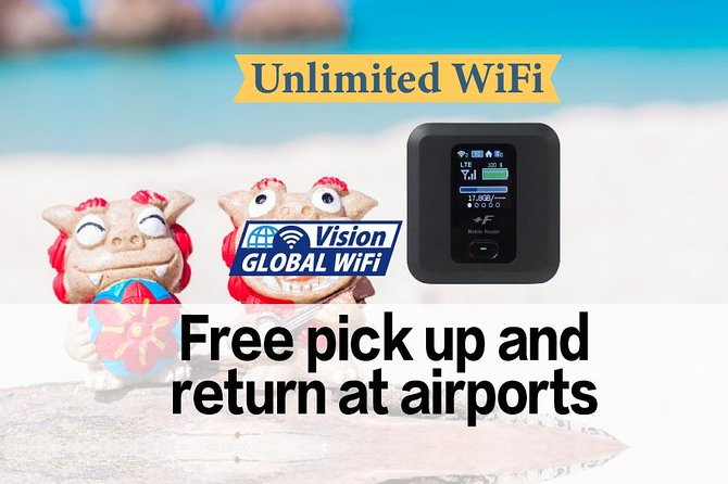 Unlimited Japan WiFi P/U Naha Airport + Mobile battery