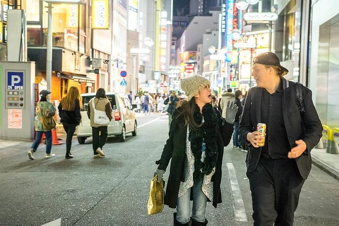 Bar-hopping in the streets of the world-famous Shibuya, Tokyo