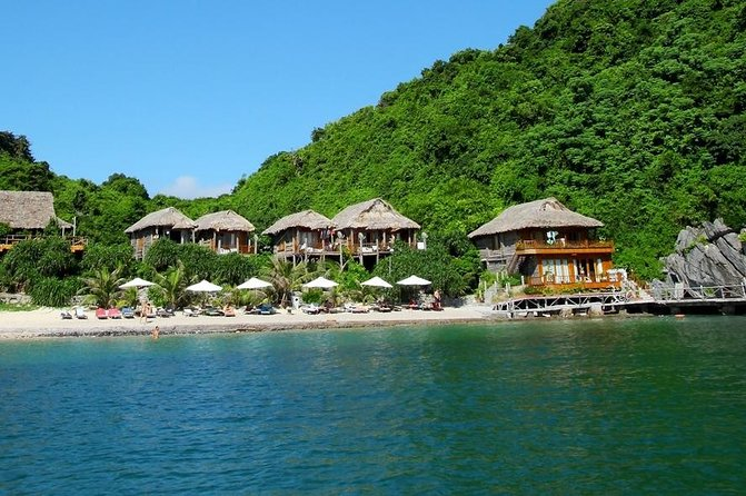 Halong 3 Days 2 Nights - Golden Bay Cruise -1 Night Boat 1 Night Island Bungalow