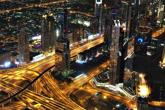 Dubai City Tour By Night With Burj Khalifa Entrance Ticket