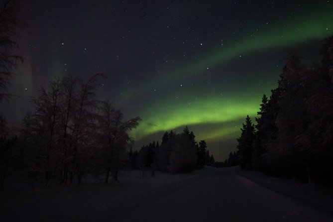 Northern lights hunting with car