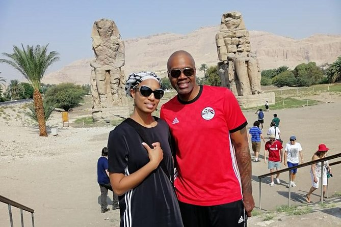 Guided trip to West Bank Hatshepsut temple valley king & memnon colossal statue