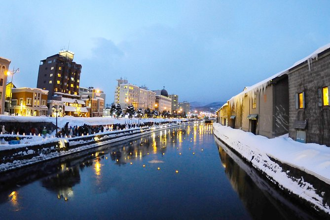 Otaru major attractions in winter with lunch buffet and audio guide!