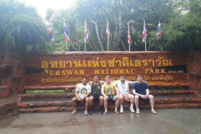 Erawan Waterfall, River Kwai and Death Railway Tour from Bangkok Private