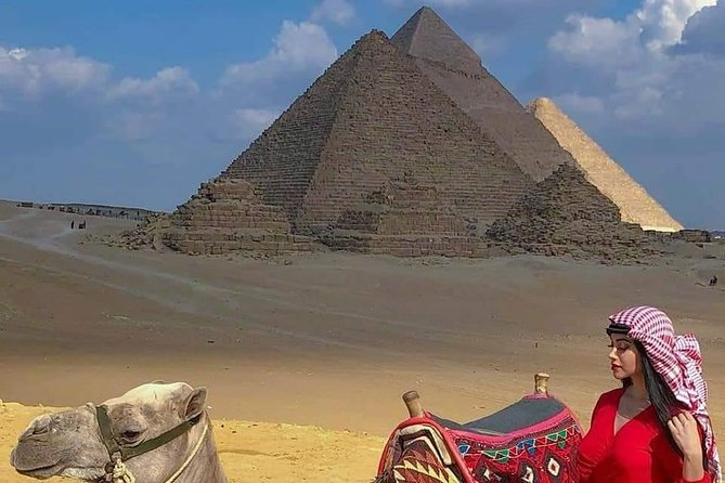 Camel ride at the pyramids (sunrise or sunset)