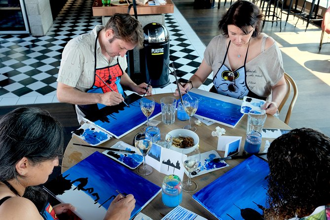 Learn to paint in Prague & sip some wine!