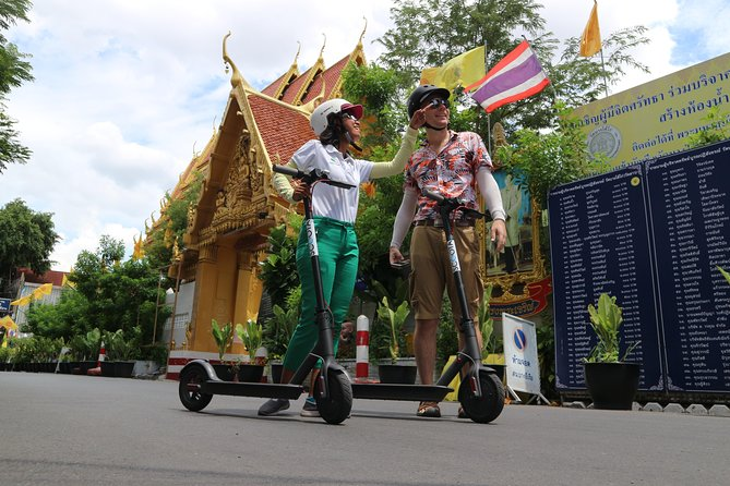 Explore Bangkok by E-Scooter & Try Street Food