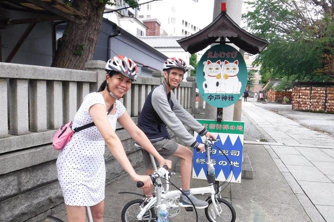 Explore Tokyo by boat and folding bike -Asakusa, Tsukiji and Fukagawa-