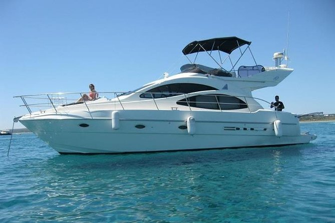 8-Hour Private 42' Azimut Yacht Tour to Tulum Sea w/Food, Open Bar & Snorkeling photo 1