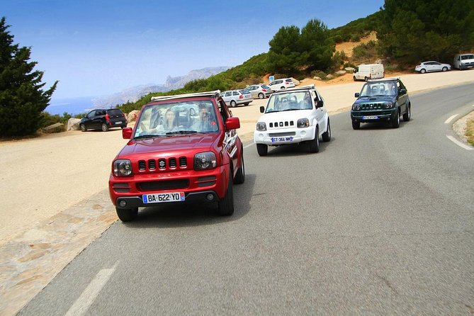 Cruise Tour in Jeep Jimny Marseille Calanques Cassis Route des Cretes