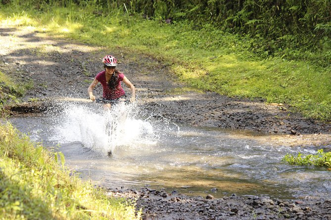 Mountain Biking Lake ArenalRugged Trail with River Crossing