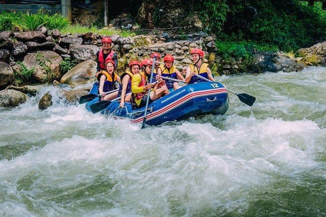 From Khao Lak: Rafting Adventure, Zip-lines & Waterfall