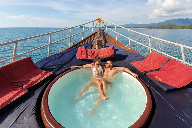 Relax in the Red Dragon onboard jacuzzi