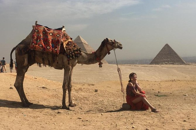 a camel ride in Sunset, with dinner Sound&Light Show at Giza Pyramids