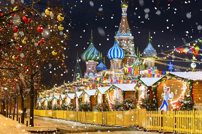 3-hour Moscow Private Christmas Walking tour with Hotel pick-up
